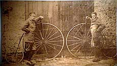James Starley invented the tangent spokes that led to much lighter wheels